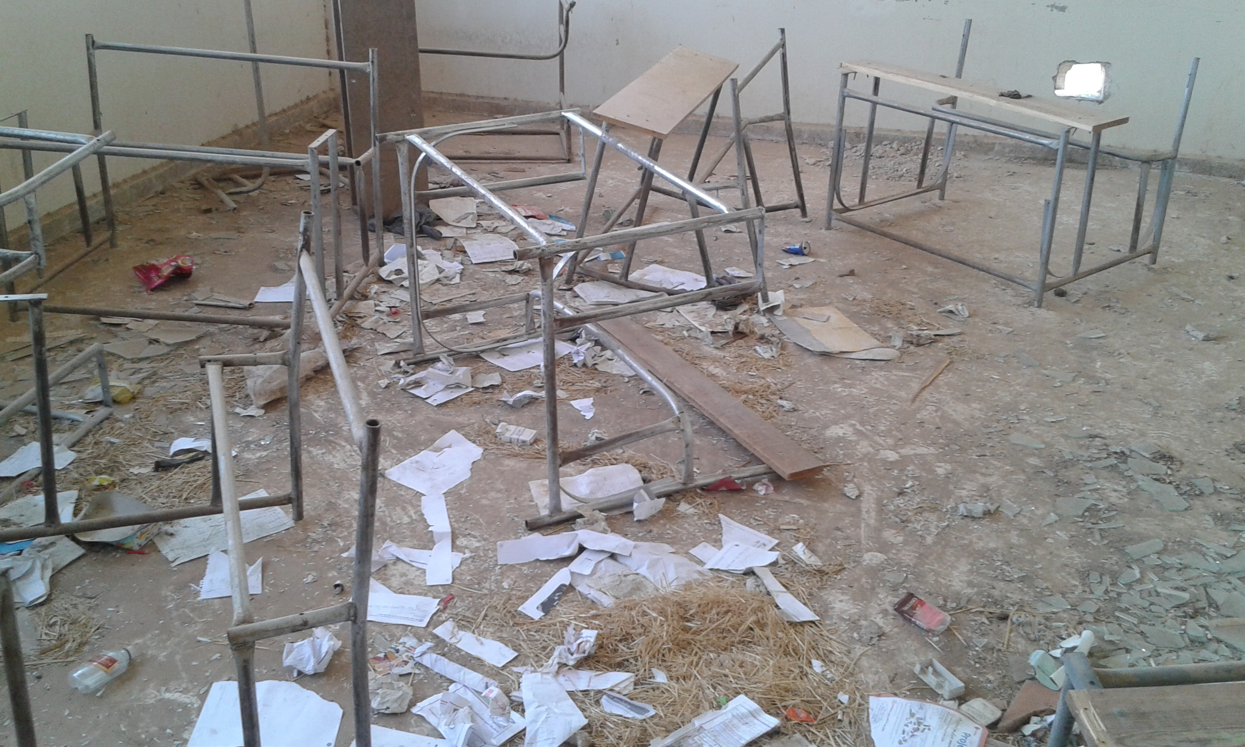 Classrooms have been left empty by the teacher shortage. Photography by Shafan Ibrahim