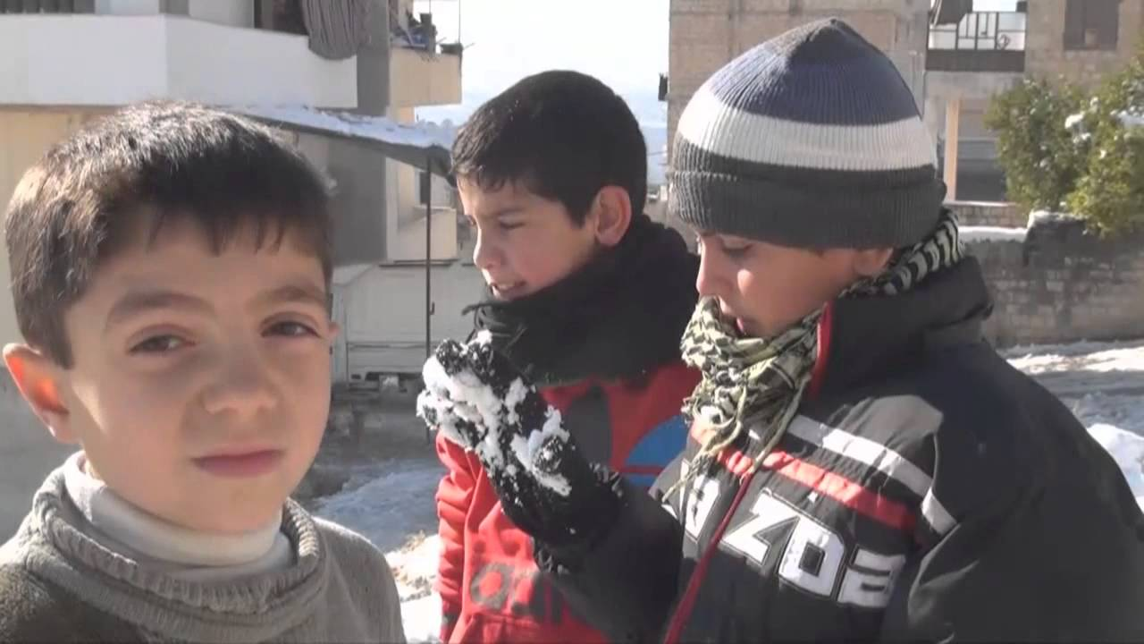 Snowstorm Freezes Life in Idlib Province