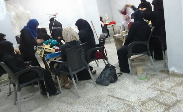 Women at Tricot workshop. A private photo from the workshop's archive.