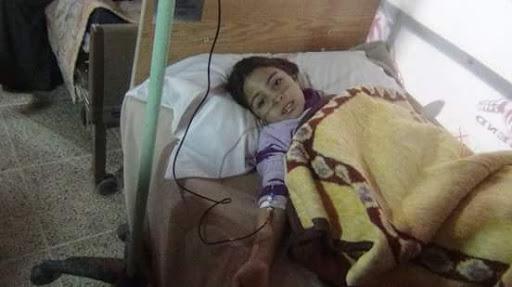 طفلة تعاني من مرض الثلاسيميا تصوير رزان السيد