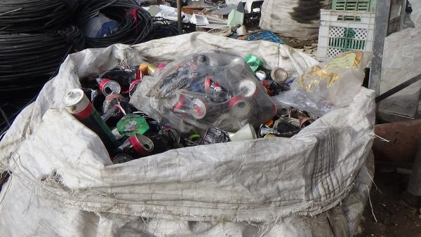 Rubbish recycled every day. Photo by: Maher al-Omar