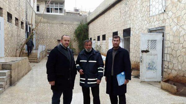 في باحة سجن المعرة المركزي من إرشيف مركز محامون من أجل العدالة في كفرنبل