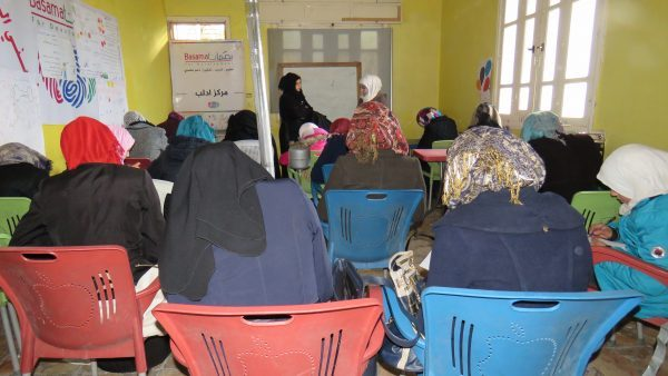 A workshop organised by Basamat. Photo: Mohammed Ibrahim
