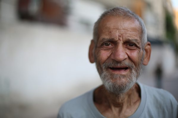 An elderly man from Zamalka