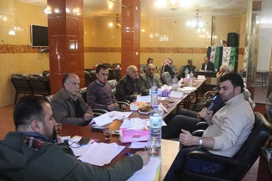 A training workshop inside Syria. Photo by: Razan al-Sayed