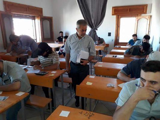 من إحدى قاعات التدريس في المعهد الجامعي تصوير شادية تعتاع