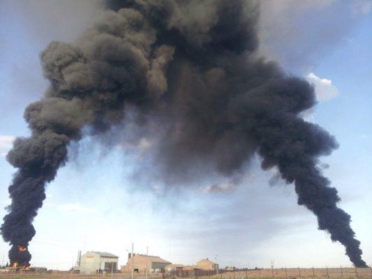 محطة الكم التي تم استهدافها بالهجمات الأخيرة تصوير بدر الدين سلامة