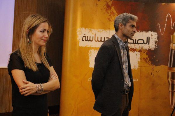 فريق معهد صحافة الحرب والسلام الذين قاموا بكتابة وتصوير حلقات دليل الصحافة الحساسة للنزاعات